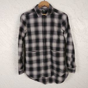 Roots Canada Plaid Cotton Flannel Work Shirt